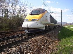 Rame Eurostar à l'entrée de Chambéry.
