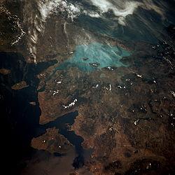 Vue satellite de la mer de Marmara