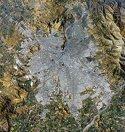 Photo satellite de la métropole de Santiago
