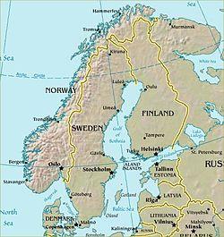 Carte de la Scandinavie