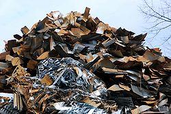 Ferraille avant traitement et recyclage