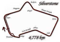 Silverstone de 1987 à 1990: le virage de Woodcote a retrouvé son caractère d'origine, mais une chicane (