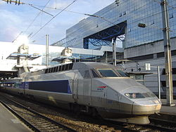 Rame TGV en gare de Rennes.