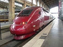 Rame Thalys PBKA à en gare de Paris-Nord.