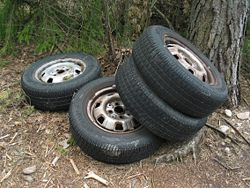 Un des problèmes posés par les pneus est leur fin de vie ou recyclage