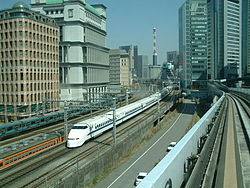 Rame Shinkansen série 300 sur la ligne Tokaido.