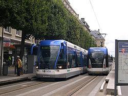 Tramway sur pneus de Caen