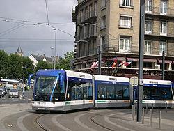 Tramway sur pneus de Caen.