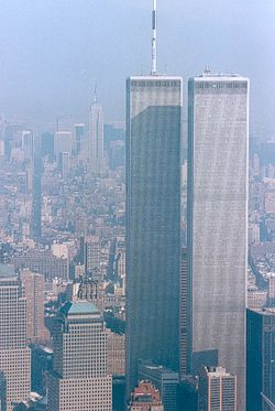 Les tours jumelles du World Trade Center, avant leur destruction