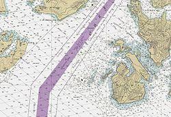 Exemple de carte marine actuelle