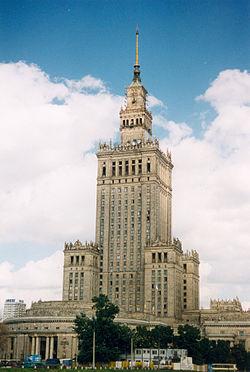 Le Palais de la Culture et de la Science à Varsovie