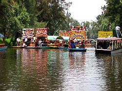 Xochimilco et ses bateaux fleuris