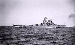 Le Yamato pendant ses essais en 1941