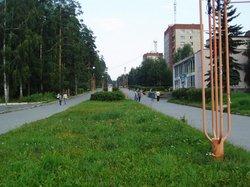 Boulevard de la ville russe de Zarechny
