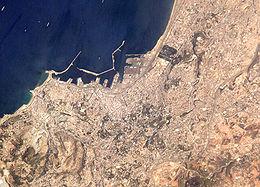 Vue satellitaire d'Alger
