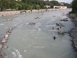 L'Arve à Annemasse, Haute-Savoie.