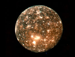 Photo de Callisto prise par Voyager 2.