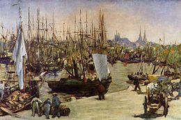Port de Bordeaux et ses gabares, Manet (1871)