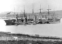 Le Great Eastern à Hearts Content, juillet 1866