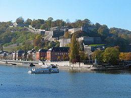 La Meuse, le Parlement wallon et la Citadelle
