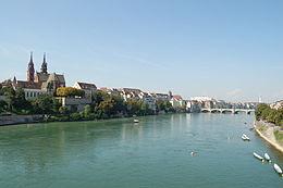 Le Rhin à Bâle.