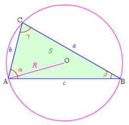 Fig. 1 - Notations usuelles dans un triangle quelconque.