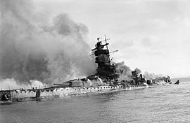 Le Graf Spee après son sabordage