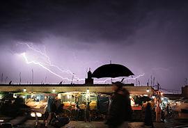 Éclair inter-nuageux au Maroc