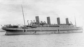 Le Britannic après sa transformation en navire hôpital
