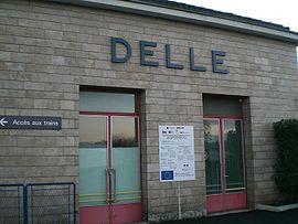 Gare de Delle à sa réouverture en 2006