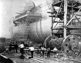 SS Great Eastern peu avant son lancement en 1858
