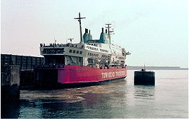 Herald of Free Enterprise, Eastern Docks, Douvres, Grande-Bretagne, en 1984