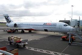 Un Jetstar Boeing 717-200 dans l'Aéroport de Sydney en Australie.