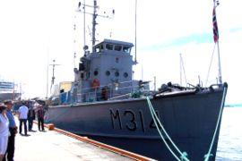le navire-musée KNM Alta de la marine norvégienne, ex MSC-104