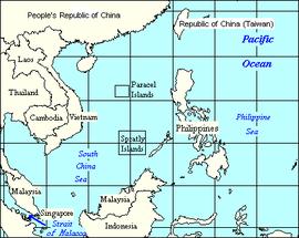 La Mer de Chine méridionale, les pays limitrophes et les mers et océans adjacents