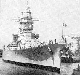 Le croiseur Strasbourg