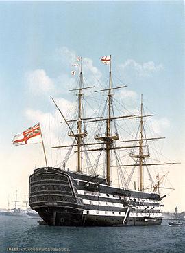 HMS Victory en 1900 à Portsmouth