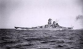 Le Yamato pendant ses essais en 1941.