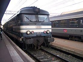 La 67628 entrant en gare de Lyon Part Dieu.