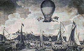 La traversée de la Manche en 1785