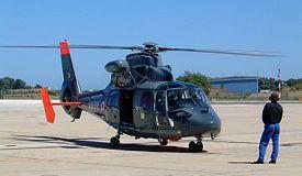 Dauphin SA.365N SP de la Marine nationale à Hyères.