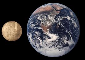 Comparaison des tailles de Mercure et de la Terre