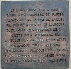 Plaque commémorative de l'évènement