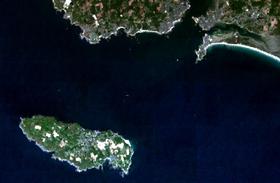 Île de Groix vue par le satellite SPOT