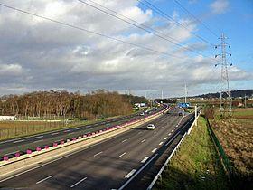 Photographie de la route A 13: L'autoroute de Normandie à Épône (Yvelines)