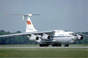 Aeroflot Ilyushin Il-76TD at Zurich Airport in May 1985.jpg