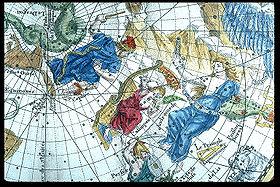 Andromède et CassiopéePlanisphère céleste (1705)