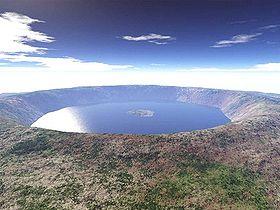 Image de synthèse du cratère quelques années après l'impact.