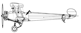 Vue latérale d'un Avro 504N