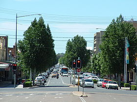 la grand rue de Wagga Wagga